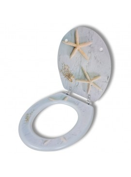 Καπάκι τουαλέτας WC από MDF Εντυπωσιακό σχέδιο Αστερίες  140805