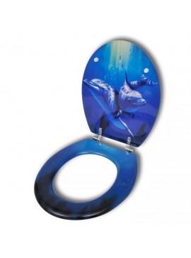 Καπάκι τουαλέτας WC από MDF Εντυπωσιακό σχέδιο Δελφίνια  140806