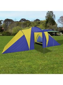 Σκηνή camping 6 ατόμων Ναυτικό μπλε/Κίτρινο  90514