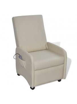 Πολυθρόνα Μασάζ Κρεμ από Συνθετικό Δέρμα  241682