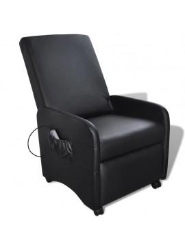 Πολυθρόνα Μασάζ Μαύρη από Συνθετικό Δέρμα  241683