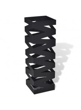 Ομπρελοθήκη Τετράγωνη / Σταντ για Μπαστούνια Μαύρη 48,5 εκ. Ατσάλινη  242469