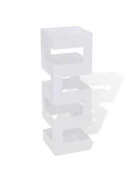 Ομπρελοθήκη / Μπαστουνοθήκη Τετράγωνη Λευκή 48,5 εκ. Ατσάλινη  242470