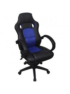 Καρέκλα Γραφείου Executive Racing Μπλε από Συνθετικό Δέρμα  242896