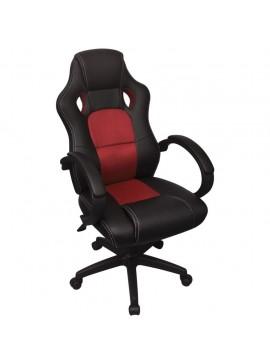 Καρέκλα Γραφείου Executive Racing Κόκκινη από Συνθετικό Δέρμα  242894