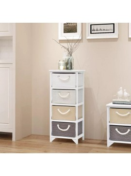Συρταριέρα με 4 Συρτάρια Ξύλινη  242890