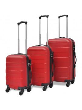 Σετ Βαλιτσών Καμπίνας Τροχήλατες Τριών Τεμαχίων Κόκκινες  91143