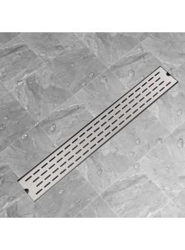 Σιφόνι Ντουζιέρας Γραμμικό με Γραμμές 830x140 χιλ. Ανοξ. Ατσάλι  142180