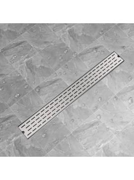 Σιφόνι Ντουζιέρας Γραμμικό με Γραμμές 930x140 χιλ. Ανοξ. Ατσάλι  142181