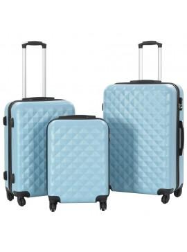 Σετ Βαλιτσών Τρόλεϊ 3 τεμ. με Σκληρό Περίβλημα Μπλε από ABS  91889