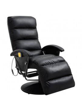Πολυθρόνα Μασάζ Ανακλινόμενη Μαύρη από Συνθετικό Δέρμα  248481