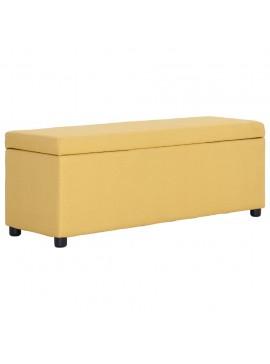 Πάγκος με Αποθηκευτικό Χώρο Κίτρινος 116 εκ. από Πολυεστέρα  281324