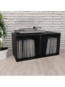 Έπιπλο για Δίσκους Βινυλίου Μαύρο 71x34x36 εκ. από Μοριοσανίδα  800118