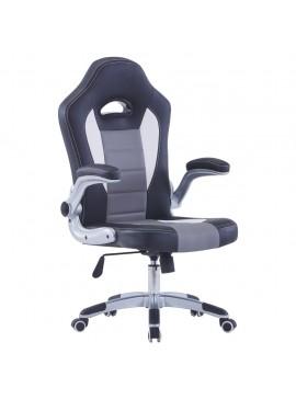 Καρέκλα Gaming Μαύρη από Συνθετικό Δέρμα  20189