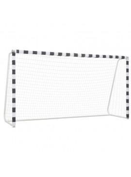 Τέρμα Ποδοσφαίρου Ασπρόμαυρο 300 x 160 x 90 εκ. Μεταλλικό  91953