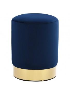 Σκαμπό Μπλε / Χρυσό Βελούδινο  249833