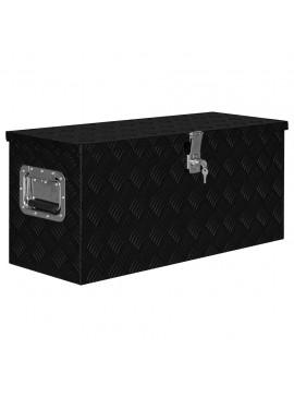 Κουτί Αποθήκευσης Μαύρο 80 x 30 x 35 εκ. Αλουμινίου   146442