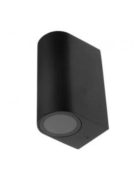GloboStar® LED Φωτιστικό Τοίχου Αρχιτεκτονικού Φωτισμού Μαύρο Up Down GU10 IP65 GloboStar 90091