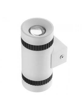 GloboStar® LED Φωτιστικό Τοίχου Αρχιτεκτονικού Φωτισμού Μονό Up Down Λευκό IP20 10 Watt 60° 1400lm 230V CREE Θερμό Λευκό GloboStar 93059