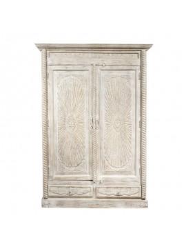 Artekko  Ντουλάπα δίφυλλη ξύλινη σκαλιστή  995-0276