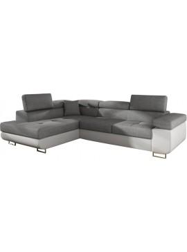Γωνιακός καναπές Antony-Αριστερή-Λευκό - Γκρι  Κωδ 16388819 Μήκος 275.00 Βάθος 202.00 Ύψος 90.00