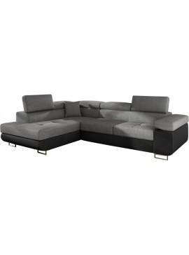 Γωνιακός καναπές Antony-Αριστερή-Μαύρο - Γκρι  Κωδ 16388879 Μήκος 275.00 Βάθος 202.00 Ύψος 90.00