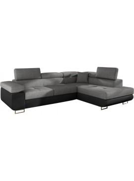 Γωνιακός καναπές Antony-Δεξιά-Μαύρο - Γκρι  Κωδ 16388889 Μήκος 275.00 Βάθος 202.00 Ύψος 90.00