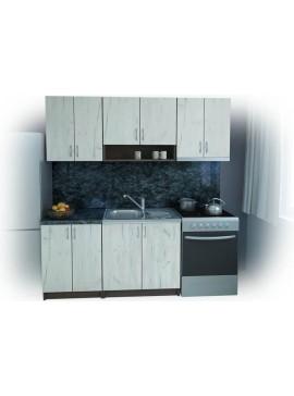 Σύνθεση Κουζίνας μήκος 3.40 μ, BENI 200 με ΔΩΡΟ πάγκο, Genomax  12814-32492