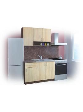Σύνθεση Κουζίνας μήκος 2.40 μ, BENI 120 με ΔΩΡΟ 2 πάγκους, Genomax  12814-32493