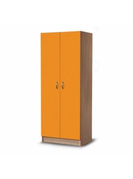 IRIS  Δίφυλλη ντουλάπα 31726560 182x72x45cm  Χρώμα  Δρυς-Πορτοκαλί  Ελληνικής κατασκευής