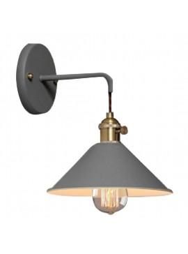Φωτιστικό Τοίχου, Χρώμα Γκρί με μπρονζέ  λεπτομέρειες  DB-MA-0056