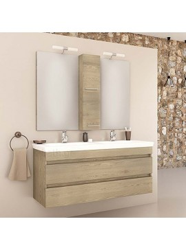 Drop Luxus 120 Wood Έπιπλο Μπάνιου Κρεμαστό 120cm Πλήρες Σετ