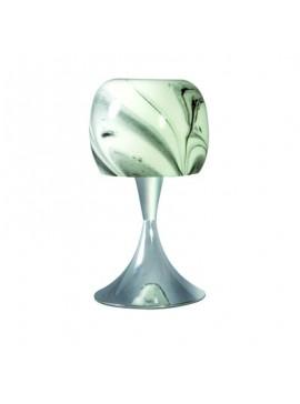 Επιτραπέζιο Φωτιστικό, 20*20*38,Χρώμιο Μεταλλικό με Γυαλί, 1 λάμπα τύπου E27, 1645-13