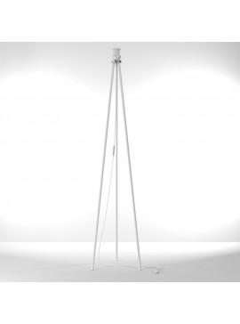 Βάση Δαπέδου Λευκή 127 εκ. Μονόφωτο (Ε27)