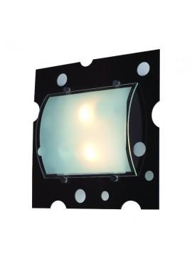 Φωτιστικό τοίχου και οροφής, 2 λάμπες τύπου E27, 33*33*10, Μαύρο, 3112