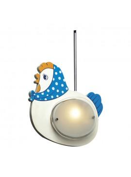 Παιδικό Κρεμαστό Φωτιστικό Κοτούλα Δίφωτο G9 33*30*33cm Ξύλινο MDF-Γγυαλί F2-MD3158-1A