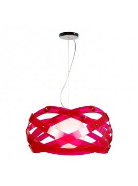 Κρεμαστό Φωτιστικό Plexi Glass , Χρώμα Φούξια, 53x53x53. F6-4