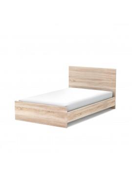 Κρεβάτι Fillia 120x200, Ημίδιπλο, χρώμα σκούρο Sonoma. Οι τάβλες του κρεβατιού περιλαμβάνονται στη τιμή. FIL-000612