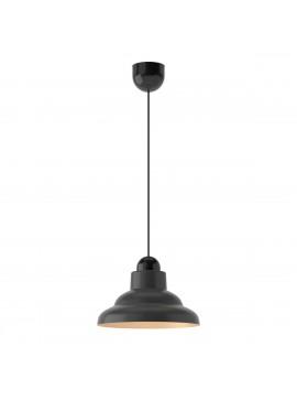Φωτιστικό Κρεμαστό Μονόφωτο Μαύρο Χρυσό γυάλινο Ε27 25*25*70cm FL-2359825BG