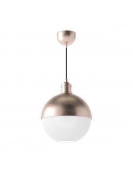 Φωτιστικό Μπρονζέ, συνδυασμός γυαλί με μέταλλο, 25cm διάμετρος. 1 Λάμπα Τύπου Ε27 (Max 40 Watt, δεν περιλαμβάνεται). FL-25QBRONZE
