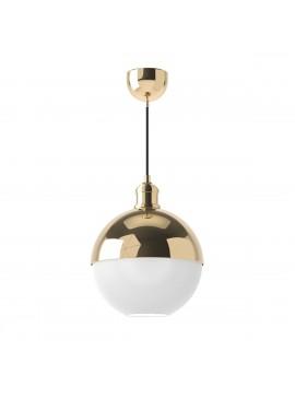 Φωτιστικό Χρυσό, συνδυασμός γυαλί με μέταλλο, 25cm διάμετρος. 1 Λάμπα Τύπου Ε27 (Max 40 Watt, δεν περιλαμβάνεται). FL-25QGOLD