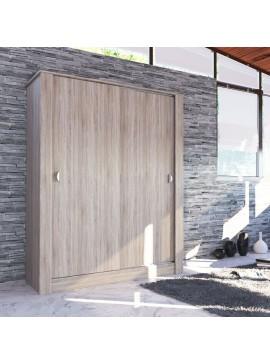 ΝΤΟΥΛΑΠΑ ANTIQUE Με Συρόμενες Πόρτες 150x58x190 Χρώμα SONOMA. IR-ANTIQUE1