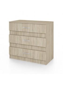 Συρταριέρα CITY3001 με 3 συρτάρια 80x43,5x76, Χρώμα σκούρο Sonoma. IR-CITY3001SONOMA