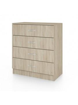 Συρταριέρα CITY3003 με 4 συρτάρια 80x43,5x91, Χρώμα Sonoma. IR-CITY3003SONOMA