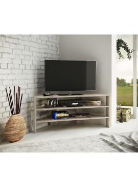 Έπιπλο τηλεόρασης CORNERTV, Χρώμα σκούρο Sonoma, 103,2x37,6x45. IR-CORNERTV