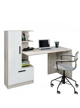 Γραφείο STANDART σκούρο Sonoma με Λευκό, 150x59x73,6/120cm IR-STANDARTDESK