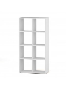 Βιβλιοθήκη, χρώμα λευκό, BEN SHELF 2X4  60.5*30*122.5 KO-BEN2X4WHITE