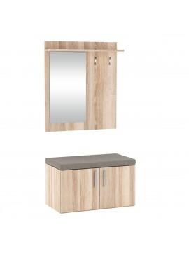 FLORIDA Set Εισόδου με καθρέφτη 70x57x128cm Sonoma KO-FLORIDASONOMA