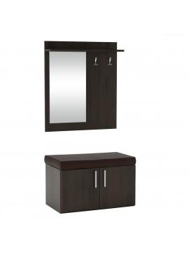 FLORIDA Set Εισόδου με καθρέφτη 70x57x128, χρώμα Wenge. KO-FLORIDAVEGE