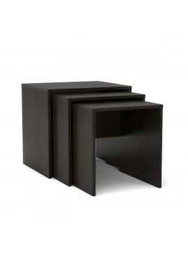 SELENA Ζιγκόν σετ 3 τεμ. τραπεζάκι σαλονιού 52x45x50cm χρώμα Wenge. KO-SELENA3VEGE